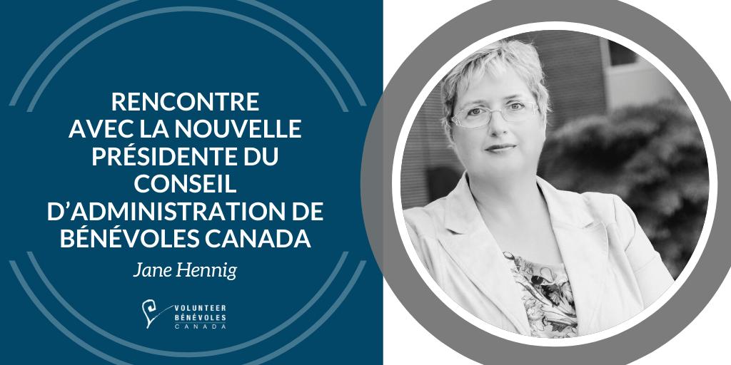 Rencontre avec la nouvelle présidente du conseil d'administration de Bénévoles Canada